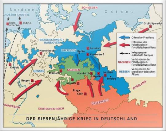 Karte Ber Den 7 Jhrigen Krieg 1756