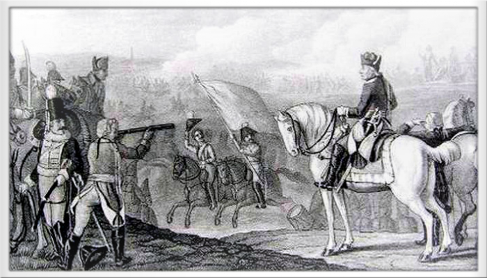 Friedrich Der Grosse In Schlacht Bei Rossbach Nhe Weissenfels Am 05 November 1757 Zwischen Siegreichen Preussen Und Franzosen